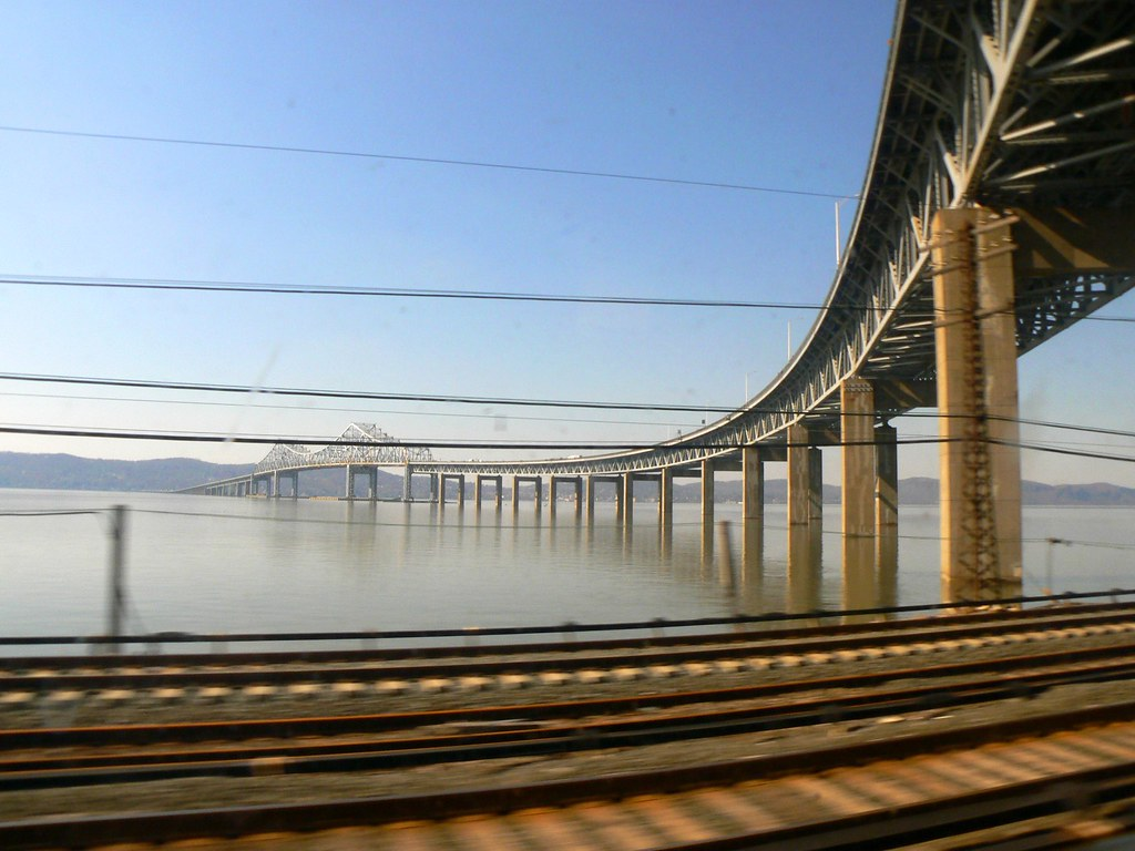 Curved Bridge - taken from a moving train