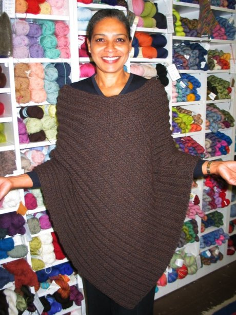 Lorraine poncho from old issue of interweave.JPG