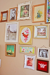 Wall Candy (boopsie.daisy) Tags: carnival flowers max bunny bunnies bird art girl dutch marie vintage butterfly mom living frames candy heart maurice room albert einstein velvet cotton prints antoinette ornate decor sendak zombiefactory