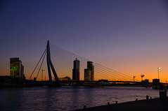 YIP006 - Erasmusbrug (Cybergabi) Tags: night river geotagged lowlight rotterdam dusk handheld maas kopvanzuid erasmusbrug 5f 2009yip geo:lat=51914519 geo:lon=4487759 enlightedbridge