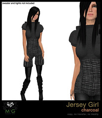 [MG fashion] Jersey Girl (charcoal)