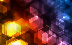Hexagons Bokeh in Pixelmator (abduzeedo) Tags: wallpaper bokeh pixelmator