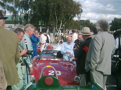 End of Madgwick Cup practice - Sir Stirling Moss surrounded by well-wishers (74Mex) Tags: moss stirling sir goodwood 2010 revival
