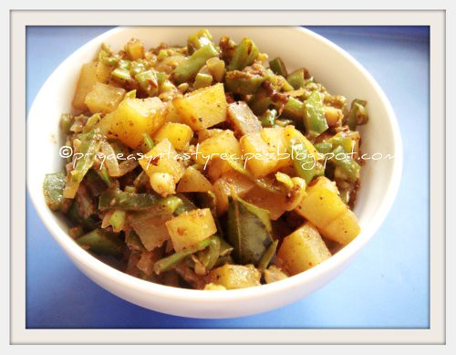 Broad beans & Potato Stir fry