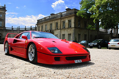 F40. (Alex Penfold) Tags: uk red england sun cars alex sports car canon photography photo cool image photos awesome picture fast super ferrari front exotic photograph hyper supercar 2010 supercars f40 cliveden penfold 450d