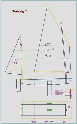 pdgoose simple diy sailboat plan.  Plywood epoxy boat bulding