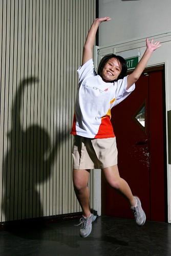 Yvonne Leaps!