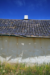 Garcia, Colorado (Dill Pixels (THE ORIGINAL)) Tags: roof shadow chimney abstract southwest color building abandoned wall rural weeds colorado desert decay sanluisvalley adobe valley plain dilapidated formalist