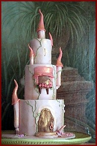 Castle Cake in Peach