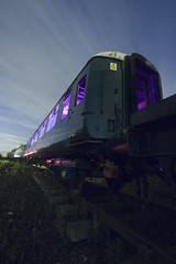 End Of The Line ([Nocturne]) Tags: light abandoned night canon painting photography long exposure purple flash trains explore gels nocturne 30d noctography wwwnoctographycouk