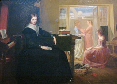 """""""The Governess"""" by Richard Redgrave, 1844 (rosewithoutathorn84) Tags: england art museum painting albert 1800s victorian victoria richard redgrave governess"""