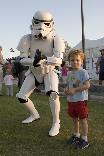 Image of Stormtrooper and kid