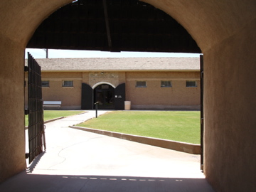 Yuma prison yard entrance