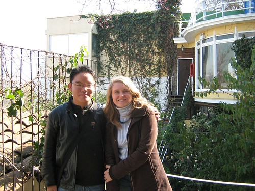 Marina and I at La Chascona, Neruda's House