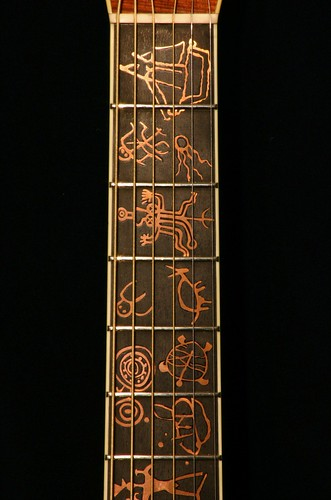 Hawaiian Petroglyph Guitar, 1990