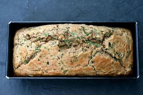 Cake rucola, olive e alici