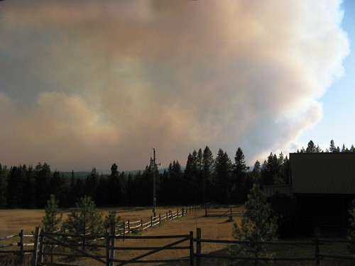 Jocko Lakes fire in western Montana's Swan Valley