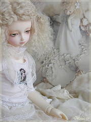 Blonde Angel (MiriamBJDolls) Tags: doll victoria luna sd mohair bjd superdollfie volks limitededition tinybear babythestarsshinebright musedoll blondeangel hometowndolpaosaka3