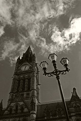 Timeless (tootdood) Tags: blackandwhite sepia manchester town hall canon20d toned timeless