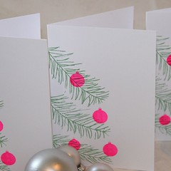Gocco printed Christmas cards