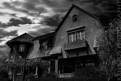 the mansion (Kris Kros) Tags: california ca usa house black halloween strange cali mystery night corner dark photography la us losangeles high scary nikon moody dynamic fear eerie haunted creepy spooky socal wicked horror kris dread mansion d200 scared range hdr fright kkg frightening horrific themansion uneasiness photomatix kros kriskros 5xp kk2k kkgallery