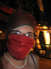 mask with pearls (squeezemonkey) Tags: scarf mask dahab redsea gulfofaqaba perls