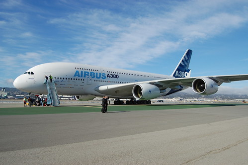 Airbus A380 at SFO