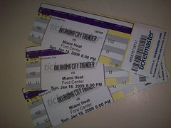 Oklahoma Thunder vs. Miami Heat (kswray) Tags: tickets kevin surprise