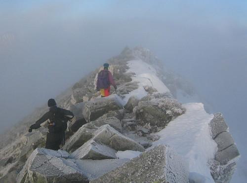 On the summit ridge of Binnein Mor (5290)