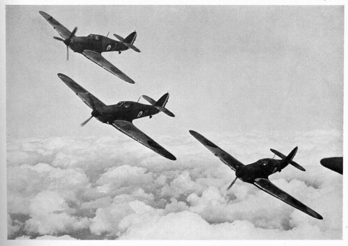 Warbird picture - Hawker Hurricanes in formation