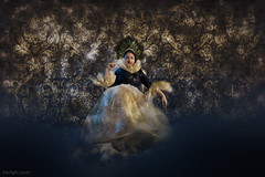 Arrogance (Heilah Alnasser) Tags: blue portrait golden conceptual arrogance