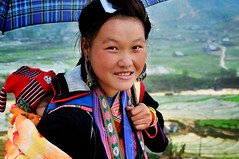 Hmong Girl, She is ethnic minority in Vietnam. There are different Hmong tribes and she belongs to... ( DocBudie) Tags: portrait woman lady rural tourist unescoworldheritagesite unesco worldheritagesite traveller human traveling seller sapa hmong laochai traditionaldress rurallife blackhmong tavan potret northernvietnam tourismdestination hmongtribe humanlife hmonggirl souvenirseller tavanvillage hmongdress vietnamdestination laocaiprovince laochaivillage travelingphotographer sapaphotos bestplacetovisitinvietnam populartraveldestination nortwestvietnam sukudivietnam traditonalcloth stockphotosofvietnam vietnamstockphotos journeytovietnam