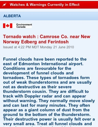Tornado watch for this area