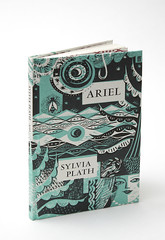 Ariel by Sylvia Plath (Faber Books) Tags: colour illustration poetry style books printmaking poems author 20thcentury poets sylviaplath faber plath woodengraving sarahyoung linocutting faberandfaber collography faberfaber