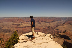 Looking over the Grand Canyon, AZ