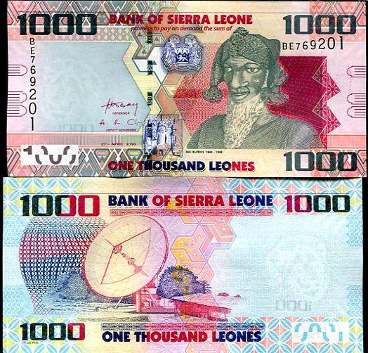 1000 Leones Sierra Leone 2010