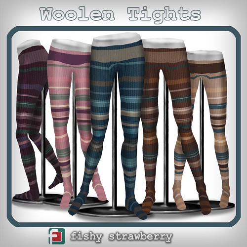 Woolen Tights - Stripes