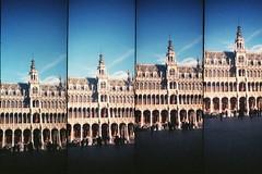 grand place (golfpunkgirl) Tags: brussels lomo lomography supersampler belgium grandplace cityhall