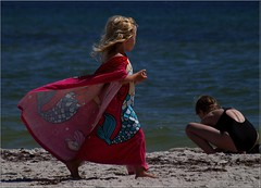 Little Mermaid (Kirsten M Lentoft) Tags: summer beach girl topc25 denmark bornholm dueodde flickrsbest anawesomeshot superaplus aplusphoto momse2600 diamondclassphotographer flickrdiamond flickrelite denmarkdinamarca kirstenmlentoft