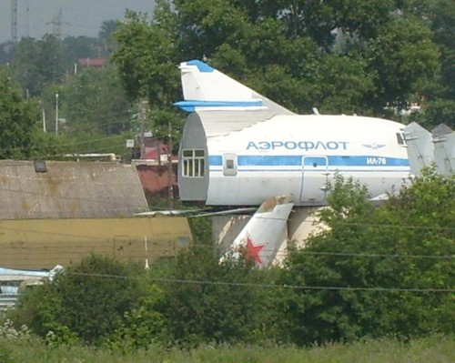A small roadside restaurant in Romania made from a DC-3: