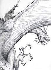 Nazgl (Jugo de Naranjo) Tags: dragon drawing lord lotr rings dibujo jinete nazgul nazgl raider