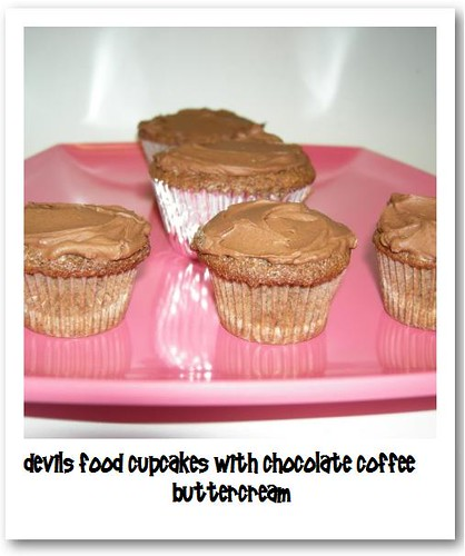 Devils Food Cupcakes with Chocolate Coffee Buttercream