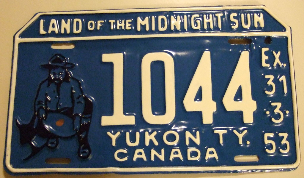 YUKON 1952 (EX-31-3-53) CANADA first Gold Panner Miner plate