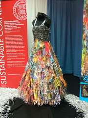 Paper Dress (anikarenina) Tags: dress display statefair syracuse paperdress shreddedpaper nystatefair newyorkstatefair sustainablecouture