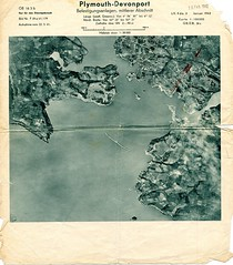 Plymouth Sound : Jan 1942 (Plymouth Libraries) Tags: cornwall map aircraft nazi plymouth aerial devon photograph german target bomb blitz bombing reich devonport secondworldwar stonehouse luftwaffe plymstock saltash torpoint
