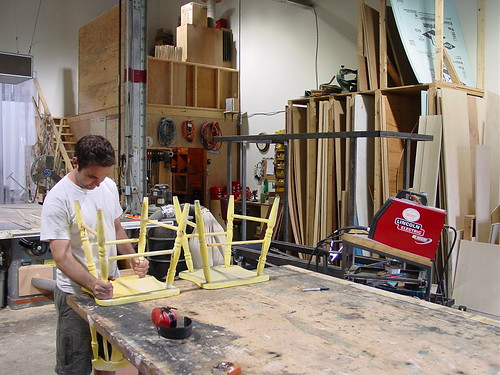 The carpentry section of the props shop