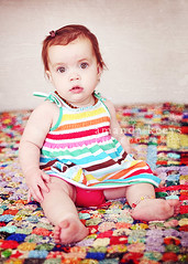 Quilt and a Blank Stare ({amanda}) Tags: baby texture girl quilt little stripes naturallight blankstare anklet 13months windowlight amandakeeysphotography amandasactions
