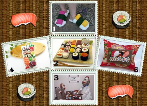 funky five: sushi