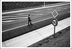 La route 3 (tany_kely) Tags: road leica boy urban blackandwhite bw white black france lines sign noir child noiretblanc geometry father son nb route enfant blanc géométrie panneau charente lignes garçon fils père urbain m9 poitoucharentes