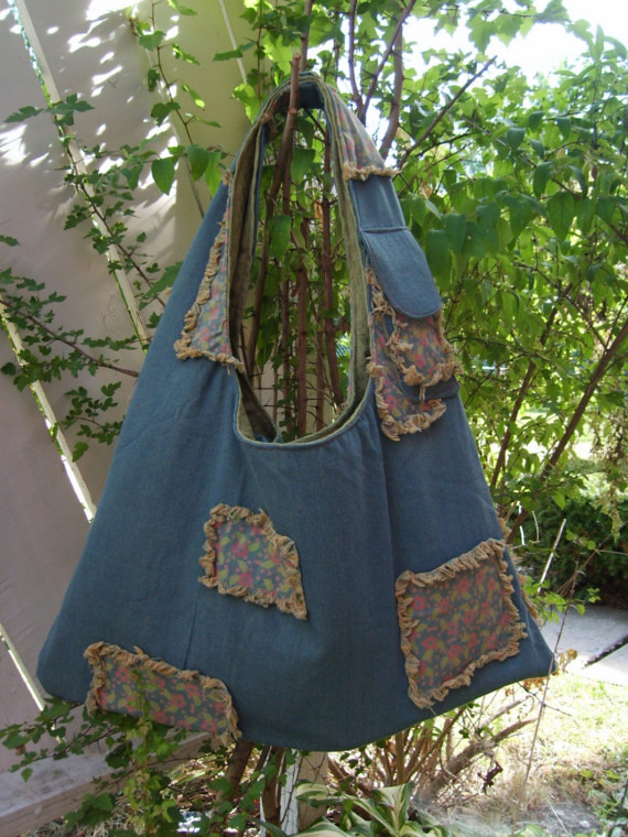 KYEbags - Denim Patchwork Baby Bag and Changing Pad